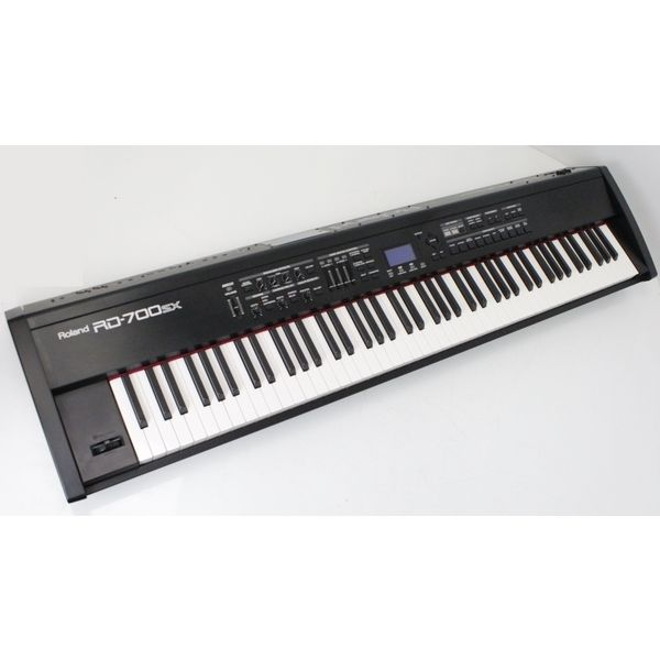 roland rd 700sx 88 key digital piano keyboard with flight case ebay. Black Bedroom Furniture Sets. Home Design Ideas